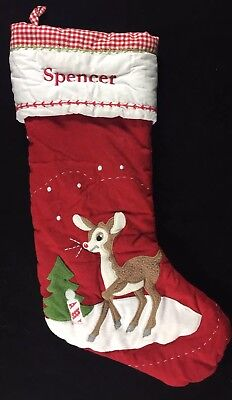 New Pottery Barn Kids~ Rudolph ~Red Velvet Reindeer Christmas Stocking Sherpa
