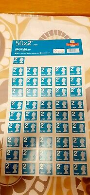 46 x New Large 2nd Class Stamps