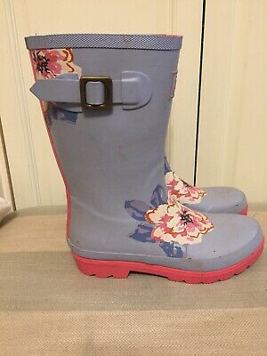 Joules Girls Wellies Size 5 EU 38 With Boot Socks