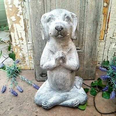 Magnesium Labrador Yoga Dog Figurine Garden Decor Statue