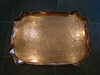 Large Early 20th Century Arts And Crafts Copper Tray
