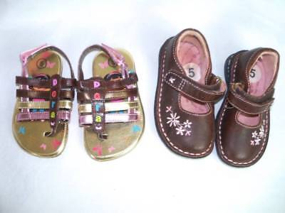 5 NWT Toddler Girls Nick Dora Gold Light Up Gladiator Sandals Shoes NIB Size