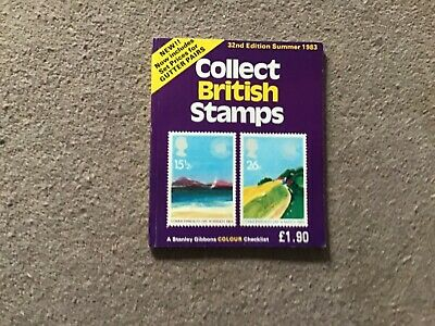 STANLEY GIBBONS COLOUR CHECKLIST COLLECT BRITISH STAMPS - 32nd EDITION 1983