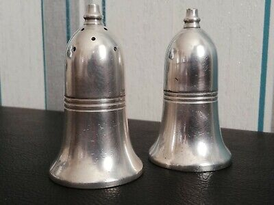 Vintage Silver Plated Salt and Pepper Shaker c1940s