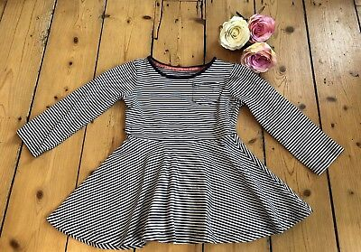 MOTHERCARE DRESS Black White girls CORD Cotton Aged 2 3 Years Sleeves STRIPED