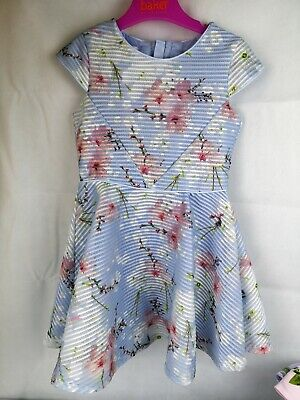 Ted Baker Girls Floral Dress - Blue 2-3 Years Wedding Stunning