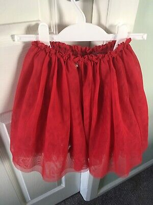 Girls Red Netted Party Skirt By NEXT age 5 - 6 Years