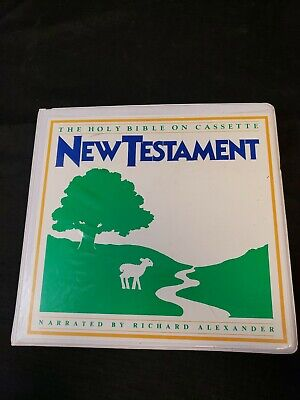 New Testament Holy Bible on cassette narrated by Richard Alexander 12 tape set