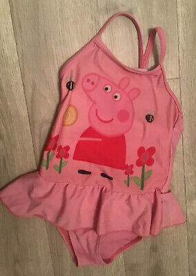 Peppa Pig Swimming Costume Age 2-3 Years Pink Strappy Cross Back 92-98cm