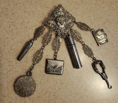 Silverplate & Sterling 1881 Victorian Chatelaine  • Vintage