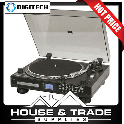 Digitech Turntable with CD Player & USB/SD Inc FM Radio Record Player GE4107