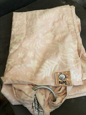 Tula Ring Sling woven baby carrier wrap Pink Floral  toddler SOFT