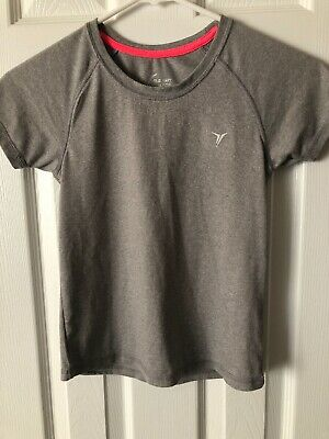 Old Navy Active Girl's Go-Dry Tee, Ash Gray, Size M(8)
