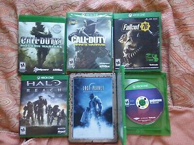 Microsoft Xbox One Game Mix Lot. Call of Duty, Lost Planet, Fallout, Wolfenstein