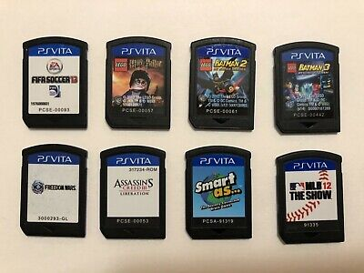 PS Vita 8 Game Lot Cartridges Only Tested and All Working