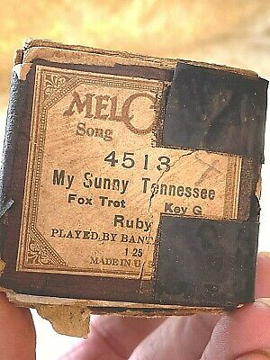 """MelOdee Player Piano Roll  """"My Sunny Tennessee"""" No.4513. Good Condition!"""