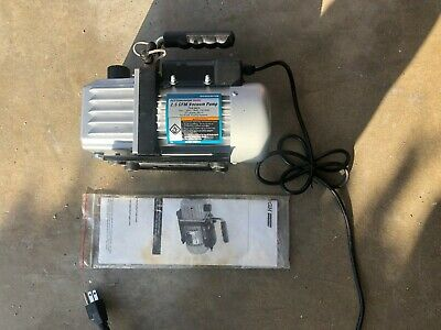 Pittsburgh 98076 2.5 CFM Vacuum Pump Refrigeration ~lightly used - as shown