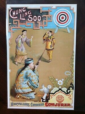 """13 pages 8/""""x11/""""//A4 Chung Ling Soo Magician Vintage Poster MP533 Mini Posters"""