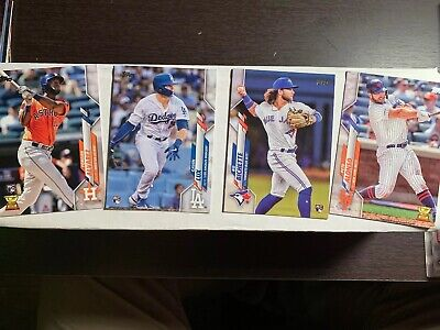 Topps Baseball 2020 Series 1 Complete Set of 350 Base Cards 1-350.