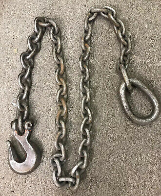 "5/8"" Crosby Hook Chain Rigging Tow Hoist Trucking CHAIN, heavy equipment."