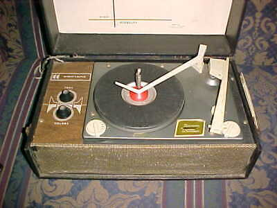 Vintage Electone 4108 Portable High Fidelity Tube Record Player