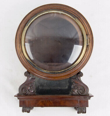 English mahogany fusee wall clock case only @ 1845 Rare style miniature case!