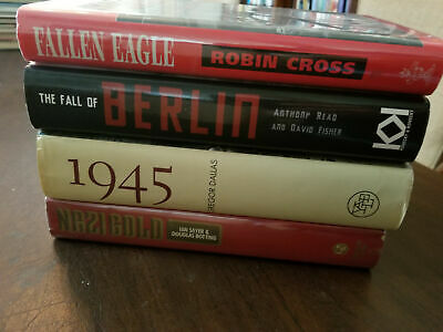 lot 4 books on end WWII / Hitler Fall of Berlin 1945 Nazi Gold Third Reich