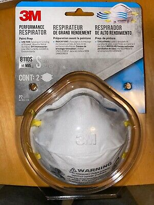 3M 8110S N95 Small Face Mask 2-Pack Performance Respirator 8210 面具 Same Dayship