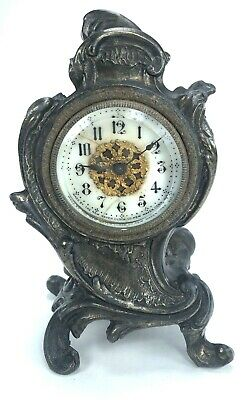 New Haven Clock Co. Mantel Table Boudoir Art Nouveau Antique Clock