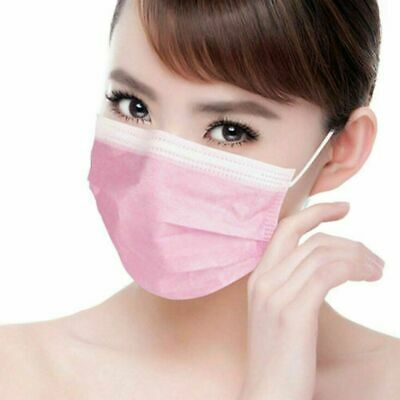Respirator Disposable Surgical 3 Ply Face Mask 20 Pcs Pack Flu Viruses Bacteria