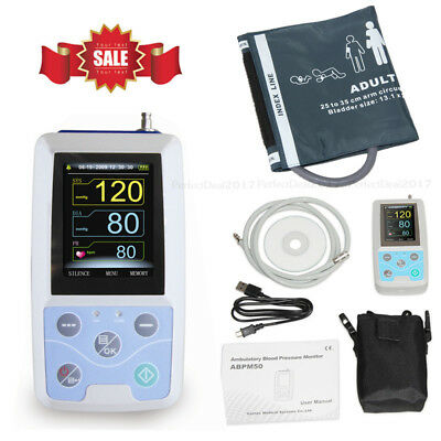 ABPM50 USB Ambulatory Blood Pressure Monitor 24hours NIBP Holter+Software,USA