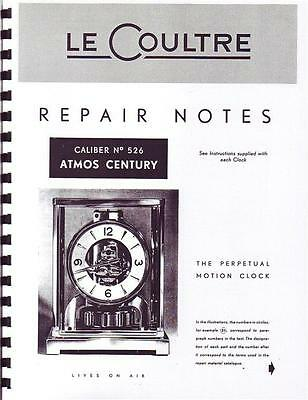 Jaeger Lecoultre Repair Manual For Vintage Atmos Clock For Auction