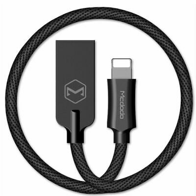MCDODO Zinc Alloy USB Cable Data Sync Charger for iPhone X 8 7 6s Plus