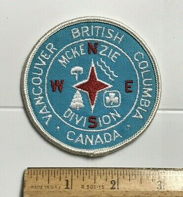 Vancouver British Columbia Canada McKenzie Division Round Embroidered Patch