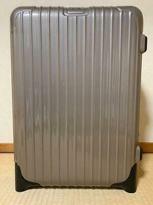 RIMOWA suitcase trolley business shampagne gold two wheels stretch handle used