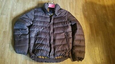 Mens Gap Down Fill Puffer Coat Size Small Brown