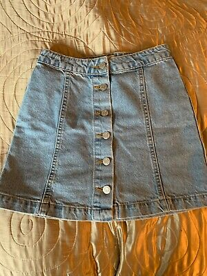 girls denim skirt age 10 With Buttons , New Look 915 Range