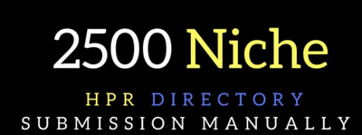 Submit your or website in 2500 niche directory submission- SEO Rank Higher