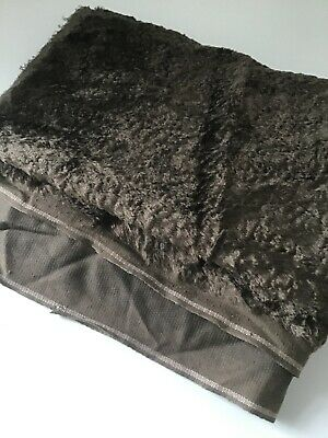 """1/2 Metre (20"""") X 145cm (57"""") Wide Quality 7mm Mohair Brown Teddy Bear Material"""