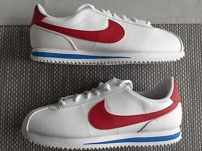 Nike Cortez Trainers Size 6 White Leather BNIB
