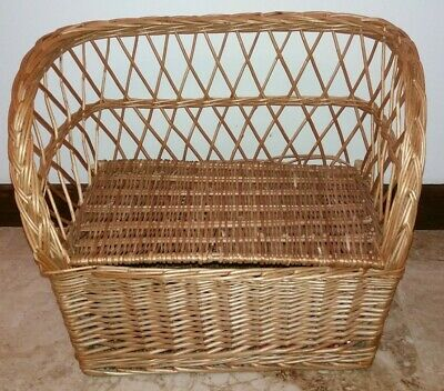 Small Wicker Storage Bench Child's Toy