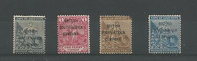 Rhodesia 1896 British South Africa Company Cape Of Good Hope Overprints Mint