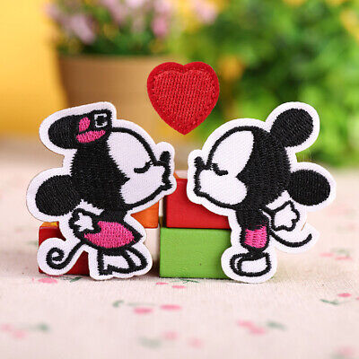 3PCS/Lot New Sweet Cartoon Lovers Embroidered Iron Sew On Patch For Clothing DIY