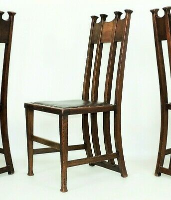 1 of 3   George Montague Ellwood   Oak Dining Chair J. S. Henry Arts and Crafts