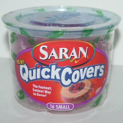 Saran Quick Covers,16 Small Pink Covers, Factory Sealed, New / Old Stock