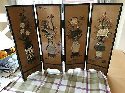 Vintage Beautiful Chinese/Japanese Small Table Dividing Screen