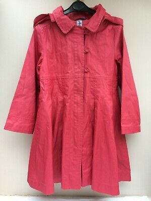 Girls Jasper Conran Coat 6 Years Red Rain Mac Rain Resistant