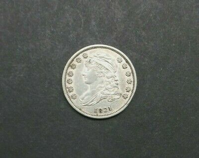 1831 Capped Bust Dime CIRCULATED Philadelphia 10c Silver Coin Higher Grade M2234