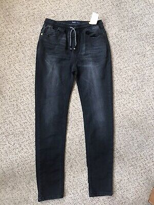 Boys Age 16 Years Black Grey Skinny Jeans From NEXT! Pull On BNWT