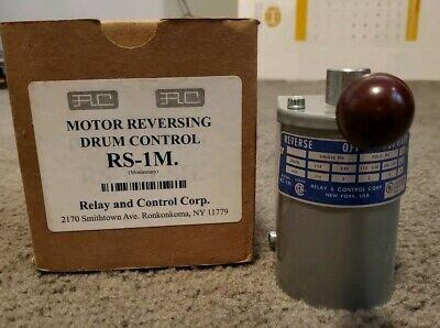 RC Relay and Control Corp. RS-1M Reversing Drum Control Forward-Off-Reverse NEW
